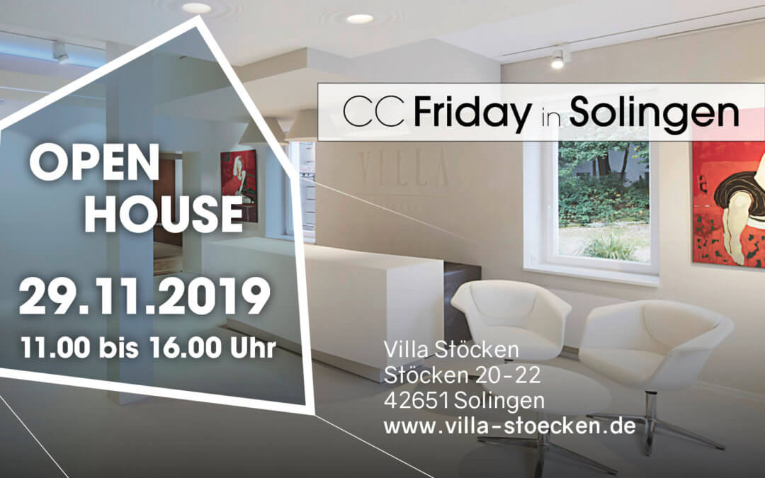 SMART LIVING – CC Friday in Solingen OPEN HOUSE am 29.11.2019 von 11:00 bis 16:00 Uhr