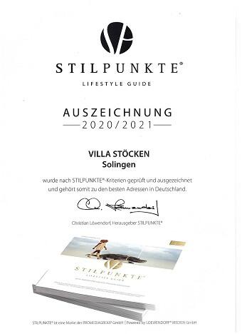Auszeichnung von STILPUNKTE.de Lifestyle Guide