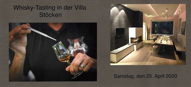 Whisky-Tasting in der Villa Stöcken am 25. April 2020 – VERSCHOBEN!